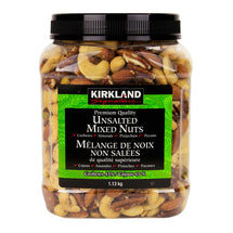 KIRKLAND SIGNATURE UNSALTED WHOLE MIXED NUTS, 1.13KG