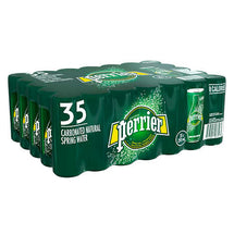 PERRIER CARBONATED NATURAL SPRING WATER CAN, 35 X 250ML