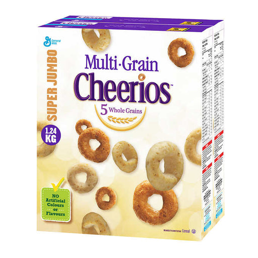 GENERAL MILLS CEREAL CHEERIOS MULTI-GRAIN, JUMBO 1.24KG