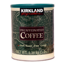 KIRKLAND SIGNATURE DECAFFEINATED DARK ROAST COFFEE, FINE GRIND, 1.36KG