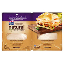 NATURAL SELECTIONS SLICED TURKEY BREAST, 2 X 400G