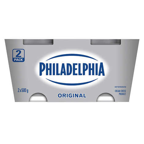 PHILADELPHIA CHEESE CREAM ORIGINAL, 2 X 500 G