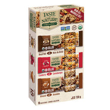 TASTE OF NATURE ORGANIC BARS, VARIETY PACK 18 X 40 G