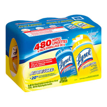 LYSOL DISINFECTING WIPES, 6 PACKS OF 80 WIPES