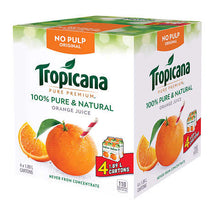 TROPICANA PURE PREMIUM ORIGINAL ORANGE JUICE NO PULP, 4 X 1.89L