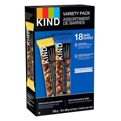 KIND BAR VARIETY PACK, 18 X 40G