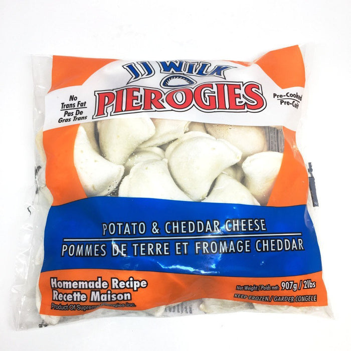 JJ WILK PEROGIES POTATO AND CHEDDAR 907 G