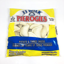 JJ WILK PEROGIES POTATO AND 3 CHEESE 907 G
