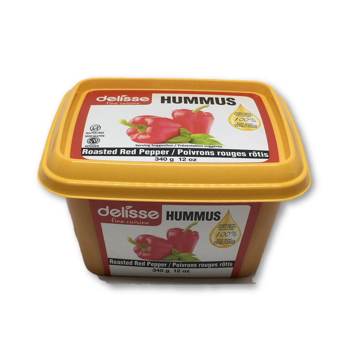 DELISSE HUMMUS RED PEPPERS 340G