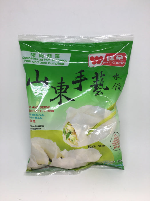 WEI-CHUAN DUMPLINGS PORK AND POIREAU 595 G