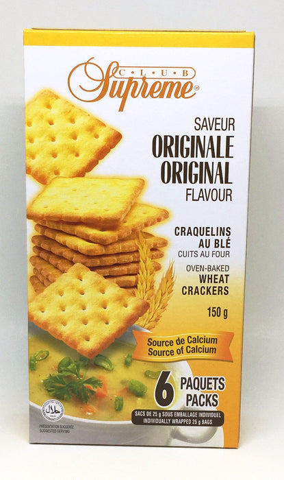 CLUB SUPREME CRACKERS WHOLE WHEAT 150 G