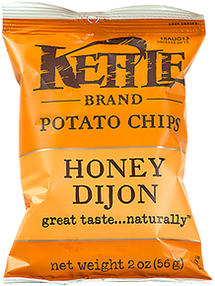 KETTLE POTATO CHIPS INDIVIDUAL PORTIONS - HONEY DIJON CHIPS - 24X45G