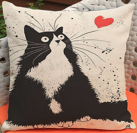 Crazy Cat Pillow - Cooper's Closet