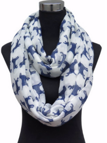 Scarf with Lab Print - Cooper's Closet