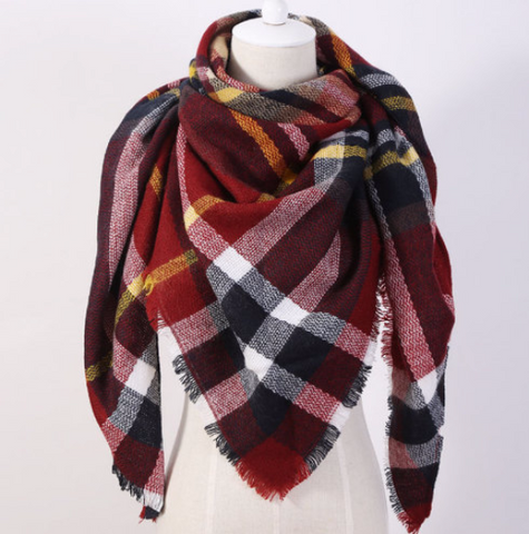 Blanket Scarf - Red - Cooper's Closet
