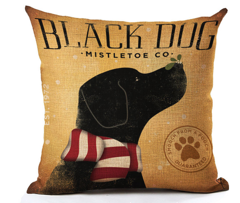 Black Lab Pillow - Cooper's Closet