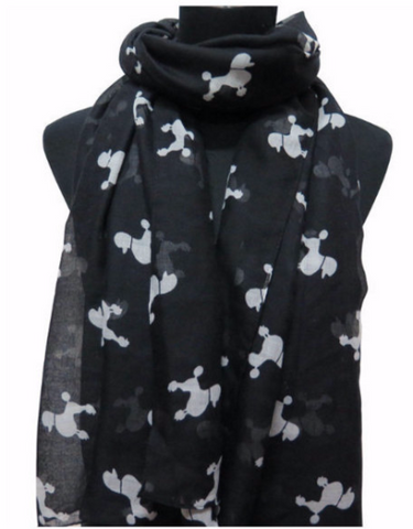 Scarf with Poodle Print - Cooper's Closet