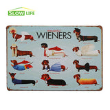 "Wonderful Wieners Dachshunds Vintage Home Decor Tin Sign 8""x12"""