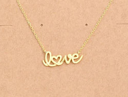 Script Gold Love Necklace
