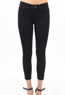 Black Ankle Skinny Cropped Jeans