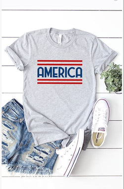 America Grey Graphic Tee