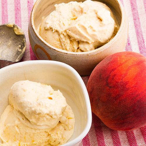 Lazy Summer Colorado Peach Ice Cream