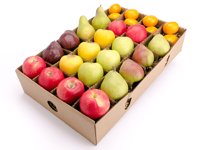 Honeycrisp apple mixed pear gift box- organic fruit delivery - FruitShare - satsumas
