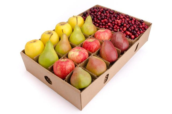Thanksgiving Fruit Gift - organic apple, pear, cranberry - FruitShare