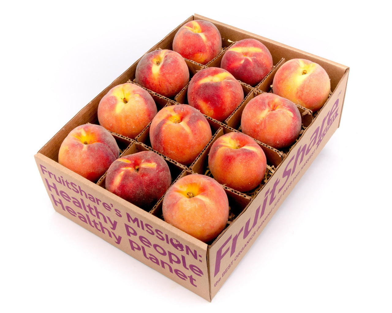 Peaches - Colorado - organic - fruit gift box - FruitShare
