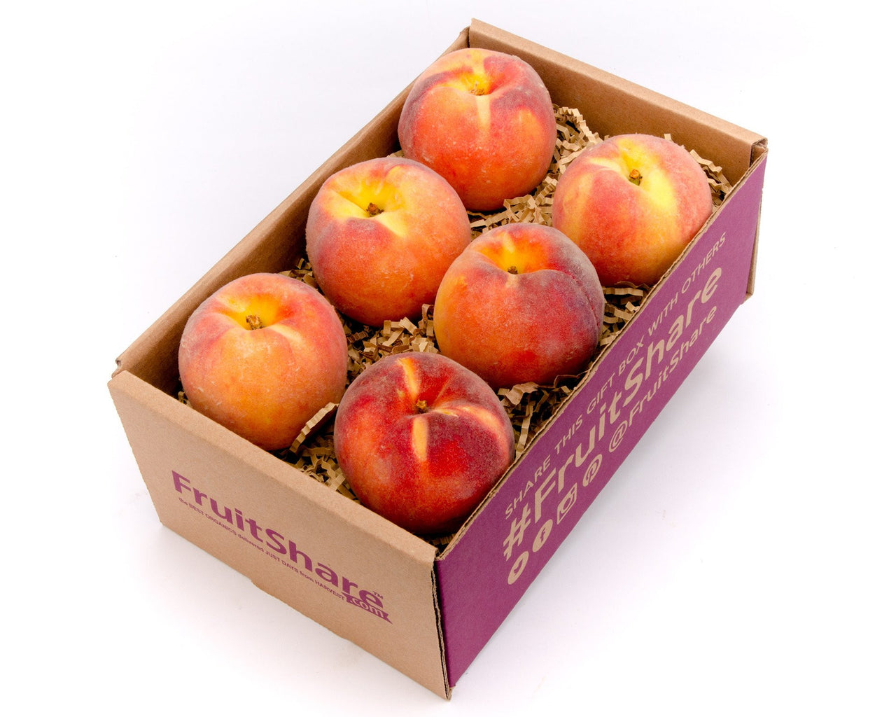 Peaches - Colorado- Organic- 6 piece fruit gift - FruitShare