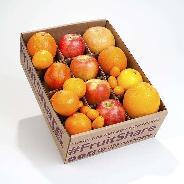 In season Organic mixed fruit- navel oranges - grapefruit - winter citrus - FruitShare
