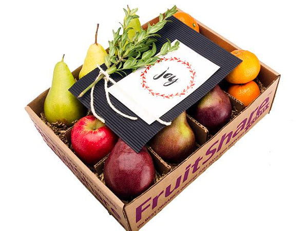 Christmas fruit - Holiday Joy gift box - organic- Fruitshare