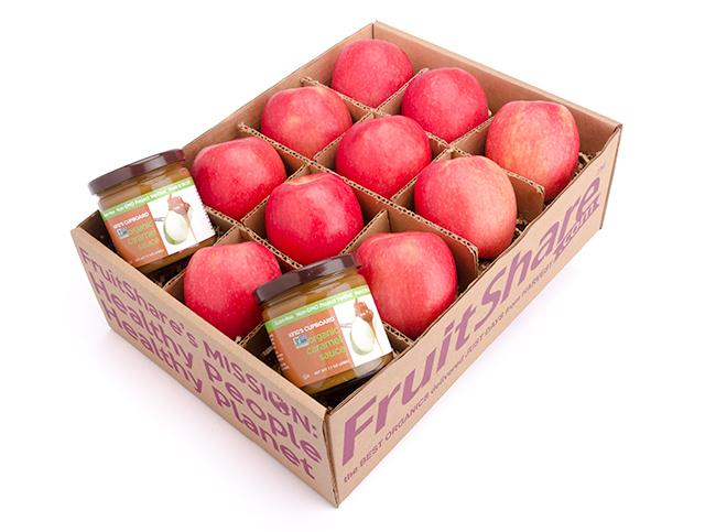 Apple caramel organic gift box from FruitShare - Holiday Gift