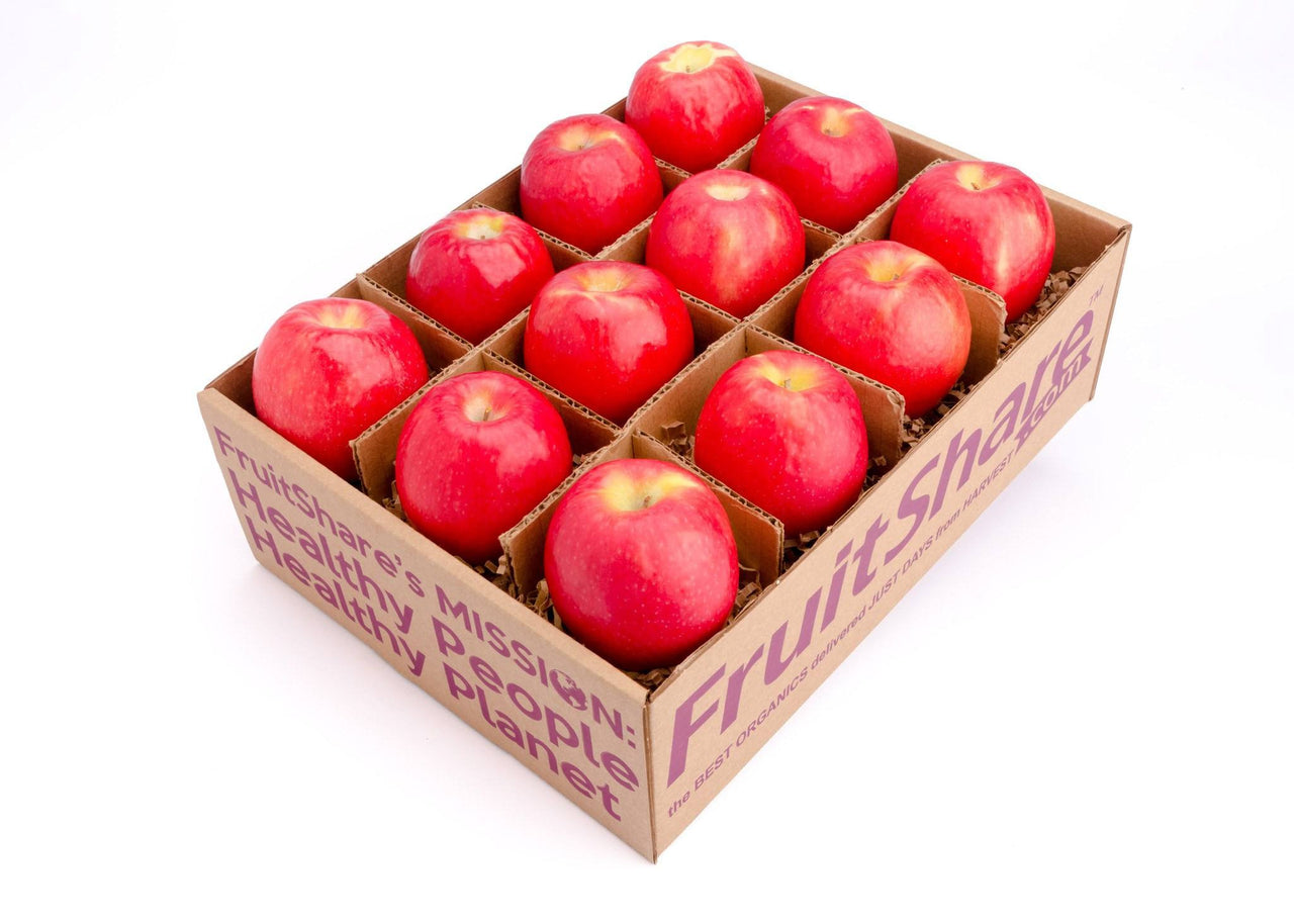 FruitShare™ seasonal fruit gifts - organic fruit - 12 Fuji apple