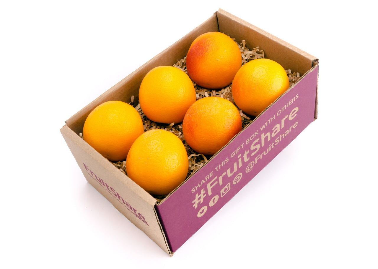 FruitShare™ seasonal fruit gift - organic fruit - 6 blood orange