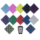 Contemporary Collection 12 Pack Polka Dot Pocket Squares Set Assorted Colors