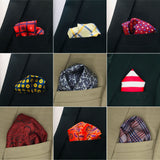Supreme Collection 45 Pack Pocket Square Set for Men Assorted Patterns and Colors