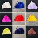 Elegance Collection 25 Plain Pocket Squares Assorted Colors