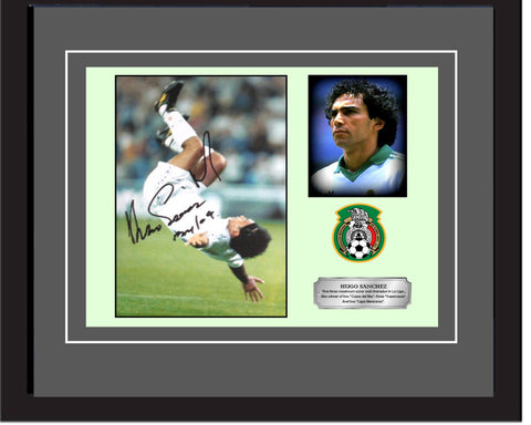 "SC - Hugo Sanchez signed photography in 20"" x 28"" frame (50cm x 70cm)"