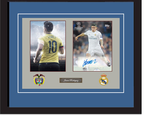 "SC - James Rodriguez Signed photograpgy in Mural - in 20"" x 28"" frame (50cm x 70cm)"
