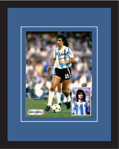 "SC-Mario Kempes - Legend of 1978 World Cup - Autographed in 20"" x 28"" frame."