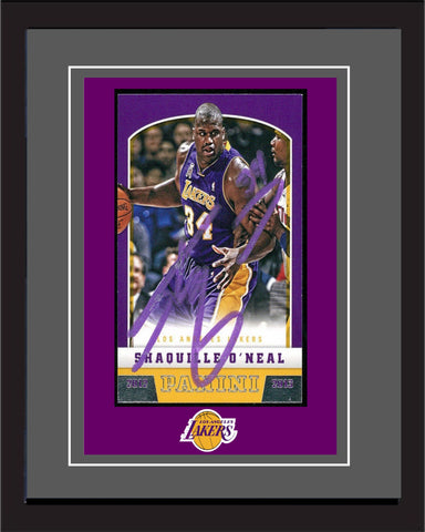 "BK - Shaquille O'Neal - Lakers - Signed photography in 20"" x 28"" frame."