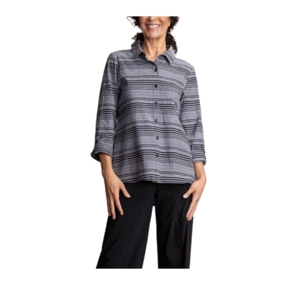 Habitat Variegated Striped shaped Shirt