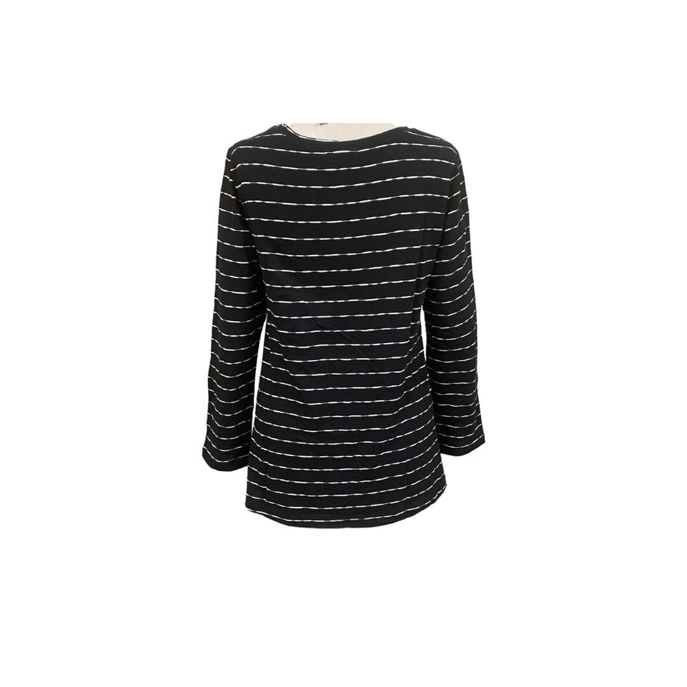 Habitat Mixed Stripe Tunic, Black.
