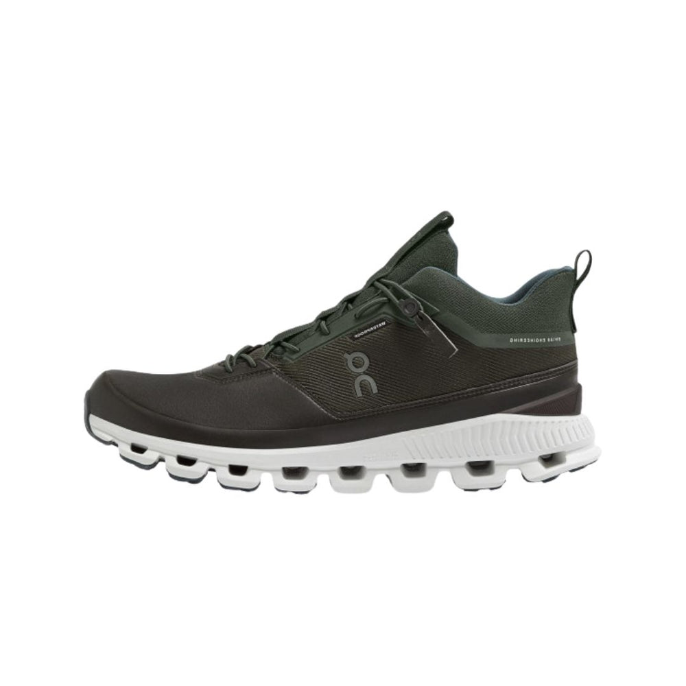ON Cloud Hi Waterproof Shoe, Fir/Umber