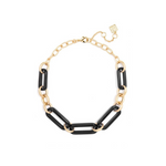 ZENZII Collar Necklace with Oblong, Resin Links