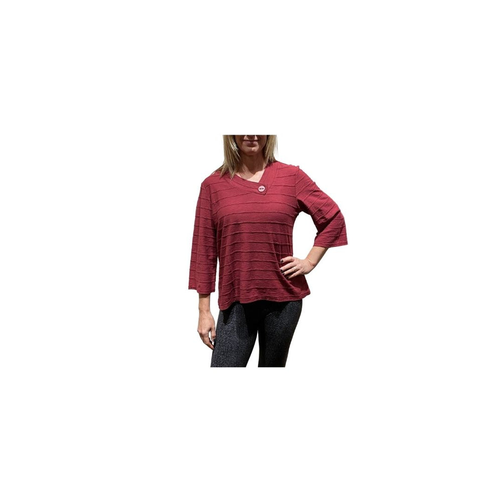 Load image into Gallery viewer, Habitat Crossover V Tee, Barn Red.