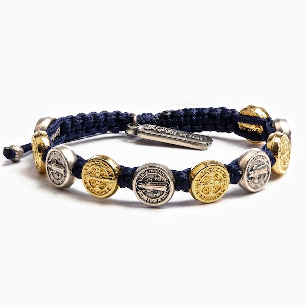 My Saint My Hero Seven Blessings Navy - Mixed Metal