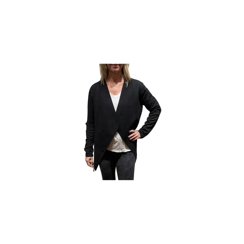 Load image into Gallery viewer, Jade Black Lapel Knit Cardigan.