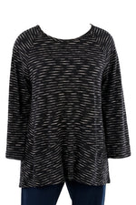 Habitat Cotton Stripe Raglan Tunic Black